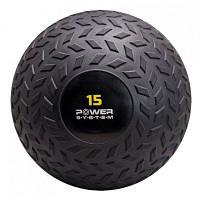 Мяч SlamBall для кросфита и фитнеса Power System 15 кг рифленый PS-4117SKL24-190152