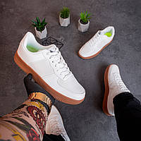 Мужские кроссовки спортивные белые Стилли Форс | кеды весенние осенние демисезонные повседневные ТОП качества, фото 1