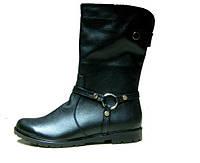 Женские кожаные ботинки на маленьком каблуке