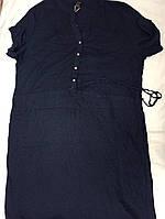 Женское льняное платье сарафан Esmara 54-66 темно синее, фото 1