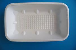 Лоток зі спіненого полістиролу M3-33 (222x133x33) Мішок 200 штук. Одноразові піддони-тарілки Mayak Pack