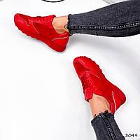 Кроссовки женские Rio красные 3049