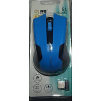 Мышь беспроводная S1 Blue
