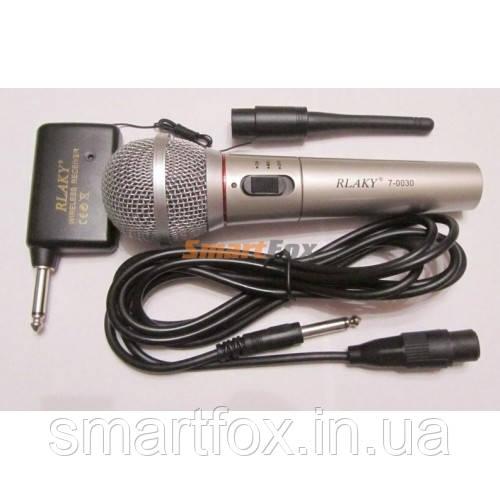 Микрофон Караоке Rlake 7-0030 (беспроводной+проводной)