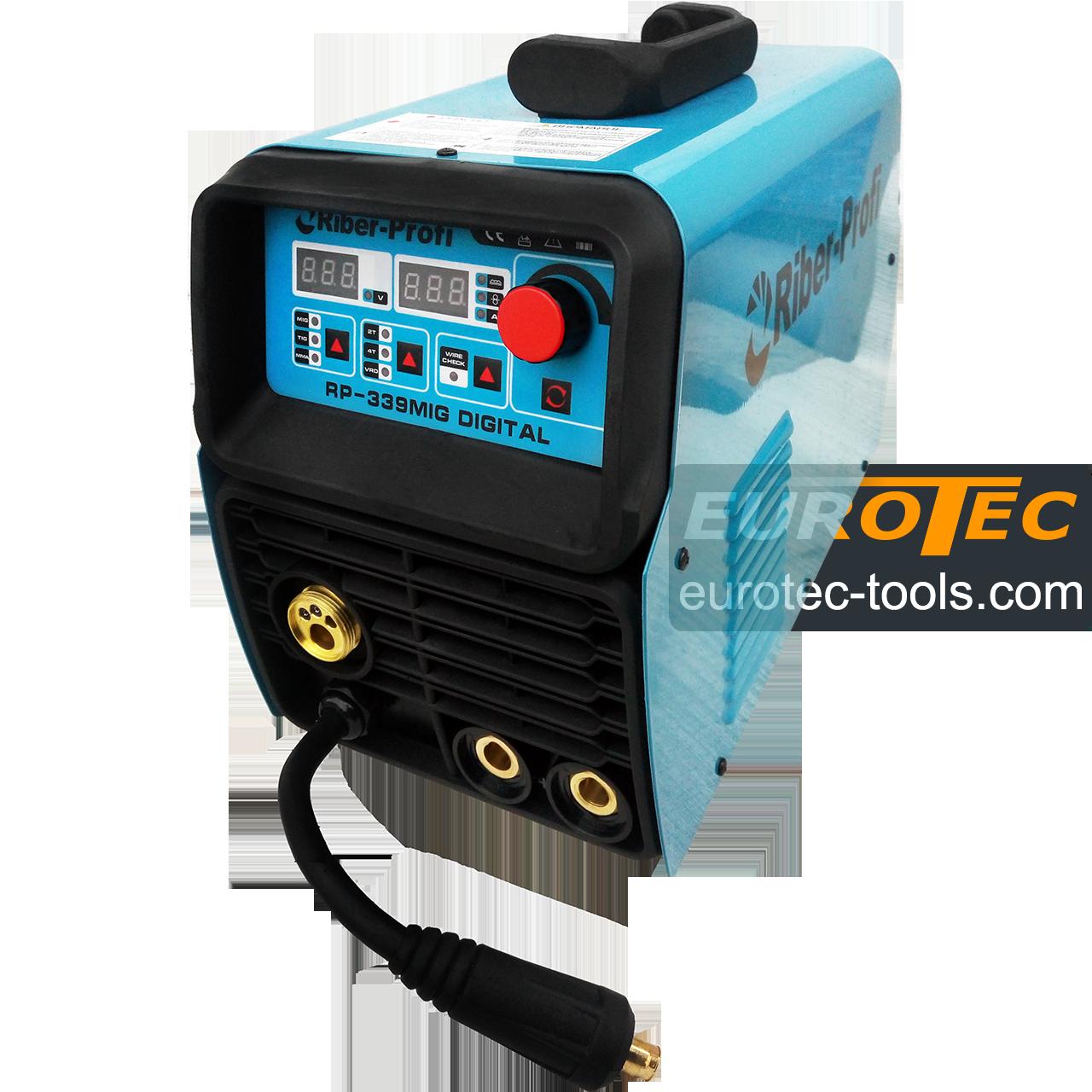 Напівавтомат інверторний 3 в 1 (TIG MIG MMA) Riber-Profi RP-339MIG DIGITAL, зварювальний напівавтомат з