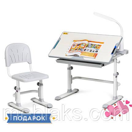 Комплект парта + стул трансформеры Cubby DISA GREY, фото 2