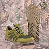 Трекінгові літні кросівки LEO олива, фото 5