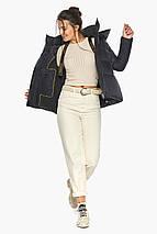 Куртка черная женская стильная осенне-весенняя с удобным капюшоном модель 43560, фото 3