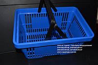 Корзинки покупателя в магазин. Пластиковые покупательские корзины. Корзинка покупателя в супермаркет, фото 1