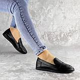 Мокасины женские Fashion Herman 2239 37 размер 24 см Черный, фото 3