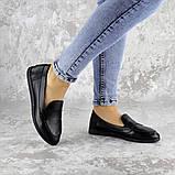 Мокасины женские Fashion Herman 2239 37 размер 24 см Черный, фото 4