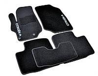 Ковры салона Citroen C-Elysee 2012- черные, 5шт ворсовые