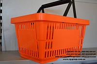 Корзины покупательские. Пластиковые корзины, Корзины для покупателей. Корзинка покупателя, фото 1