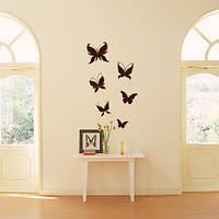 Интерьерные виниловые наклейки Бабочки, набор самоклеющихся бабочек