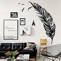 Интерьерная виниловая наклейка Перо (самоклеющиеся наклейки птицы)