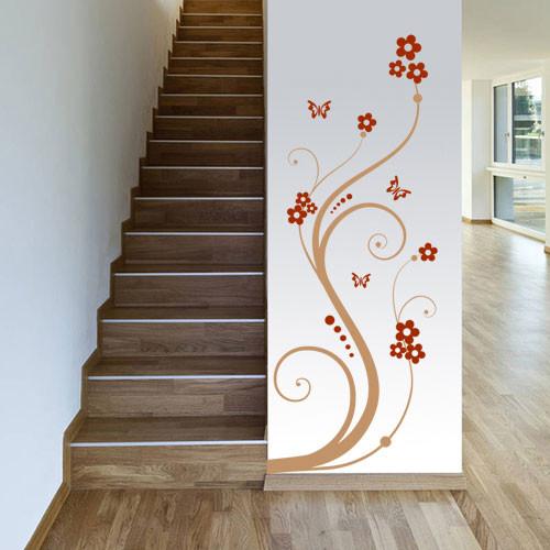Виниловая интерьерная наклейка Узор с завитками (цветы, растения, узоры)
