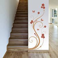 Виниловая интерьерная наклейка Узор с завитками (цветы, растения, узоры), фото 1