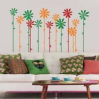 Декоративная виниловая наклейка Цветы на стеблях (наклейки растения ромашки), фото 1