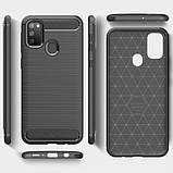 Силиконовый противоударный чехол Polished Carbon для Samsung Galaxy M30s / M21, фото 5