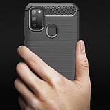 Силиконовый противоударный чехол Polished Carbon для Samsung Galaxy M30s / M21, фото 6