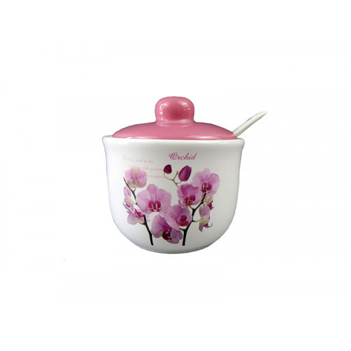 Цукорниця Interos Орхідея Рожева з ложкою 350 мл ZFC045 OP