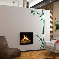 Интерьерная виниловая наклейка на обои Бамбук (самоклейка, оракал, наклейки растения), фото 1