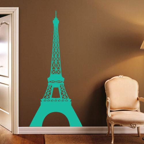 Виниловая интерьерная наклейка Эйфелева башня (наклейки атлас мира) матовая 458х1000 мм
