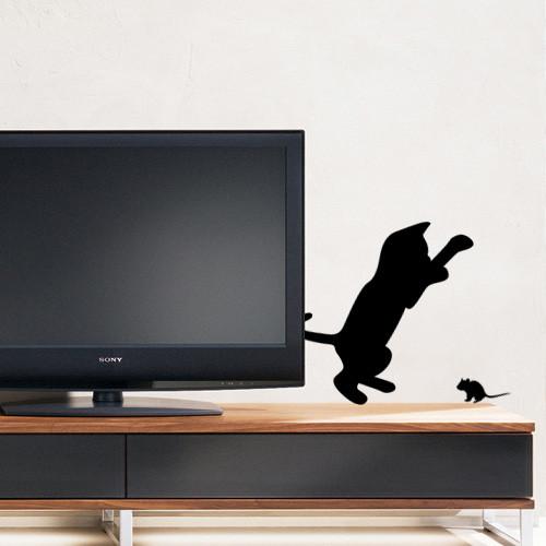 Акция! Наклейка Котенок и мышонок
