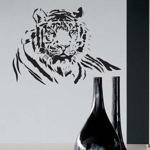 Интерьерная виниловая наклейка Сибирский тигр (самоклеющиеся наклейки животные)