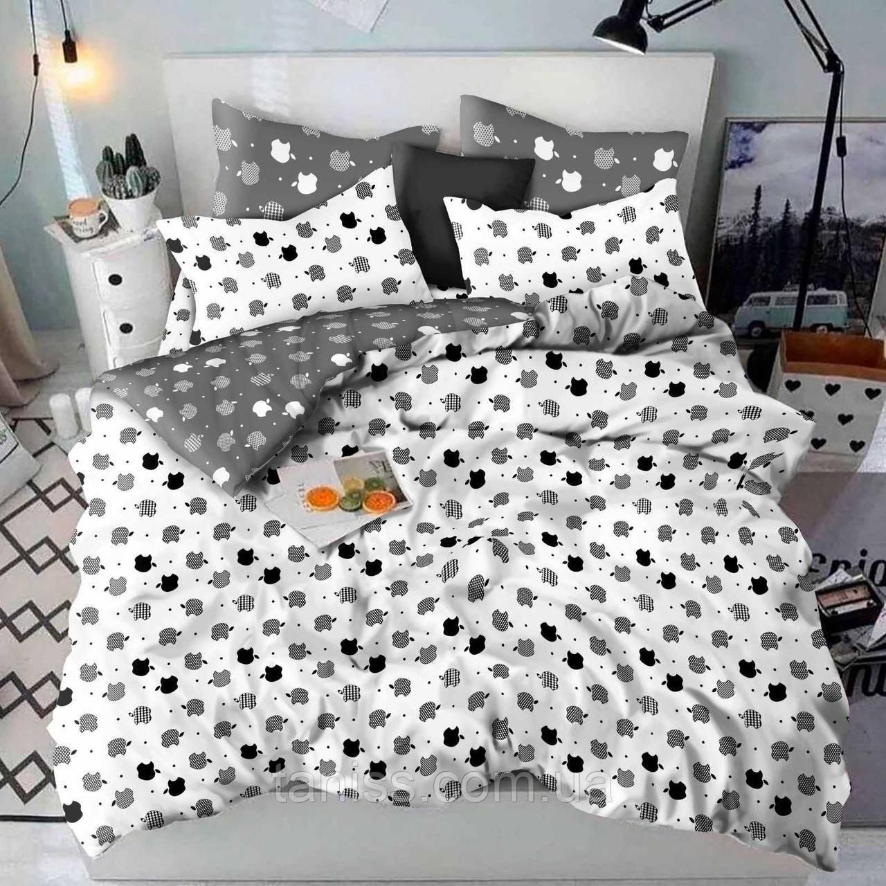 Двухспальный набор постельного белья Бязь Голд, расцветка как на фото,apple