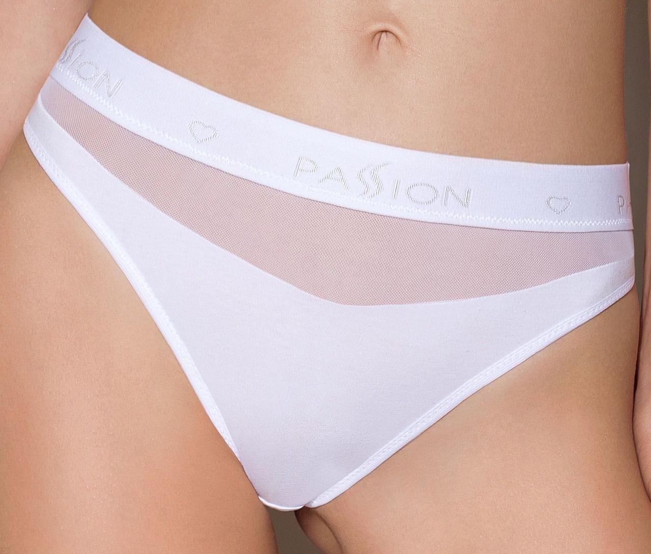 Трусики с прозрачной вставкой Passion PS006 PANTIES white, size L