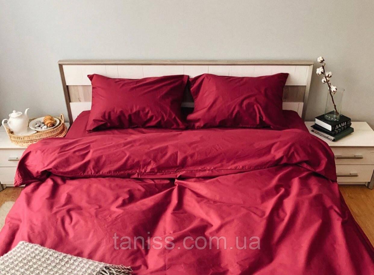 """Полуторный набор постельного белья Бязь """"Gold"""",  расцветка как на фото,  бордо"""