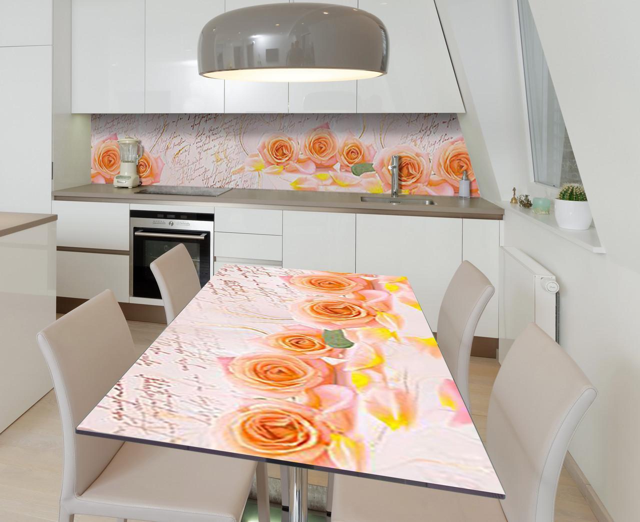 Наклейка 3Д виниловая на стол Zatarga «Клятва любви» 650х1200 мм для домов, квартир, столов, кофейн, кафе
