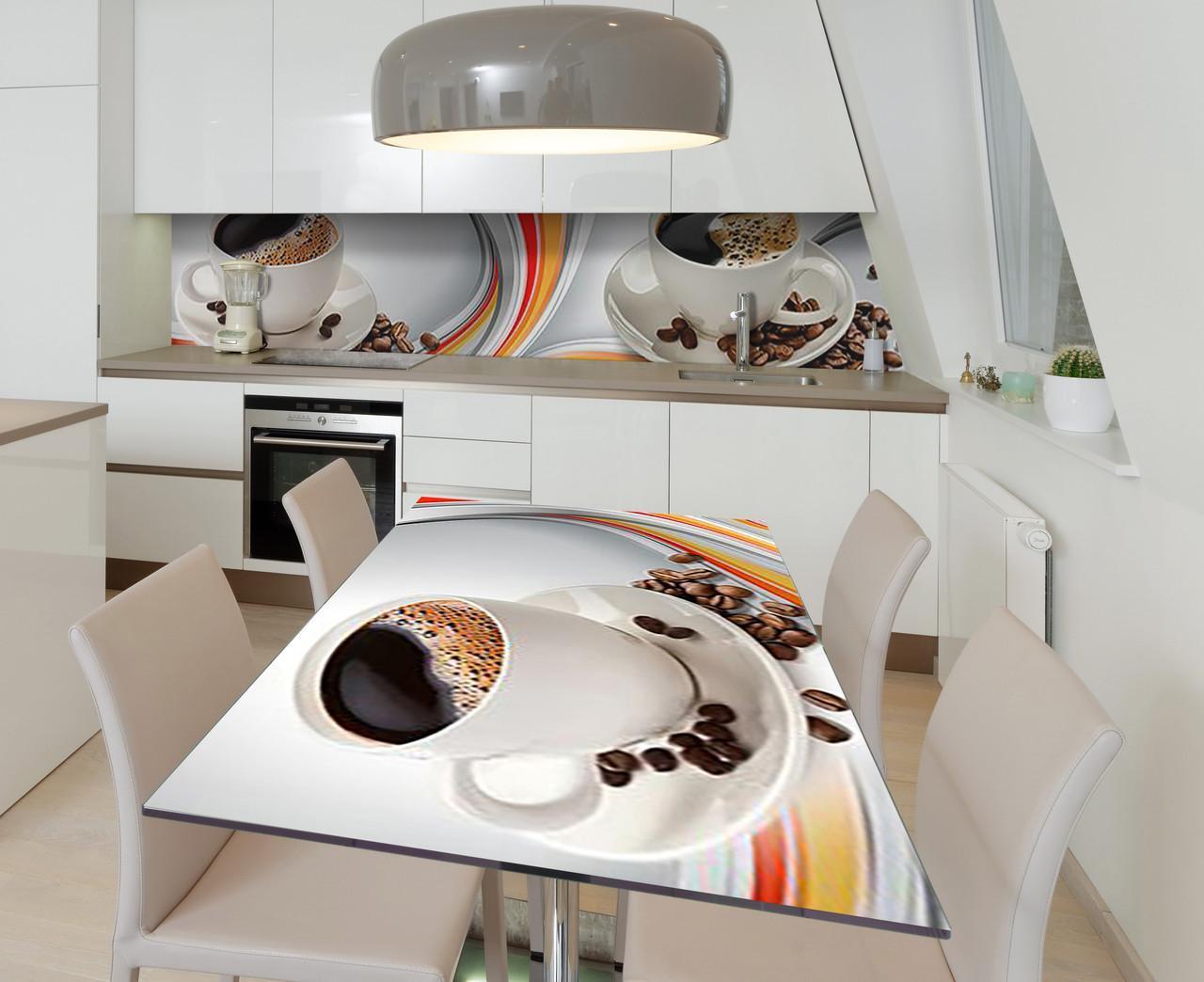 Наклейка 3Д виниловая на стол Zatarga «Душистое зерно» 650х1200 мм для домов, квартир, столов, кофейн, кафе