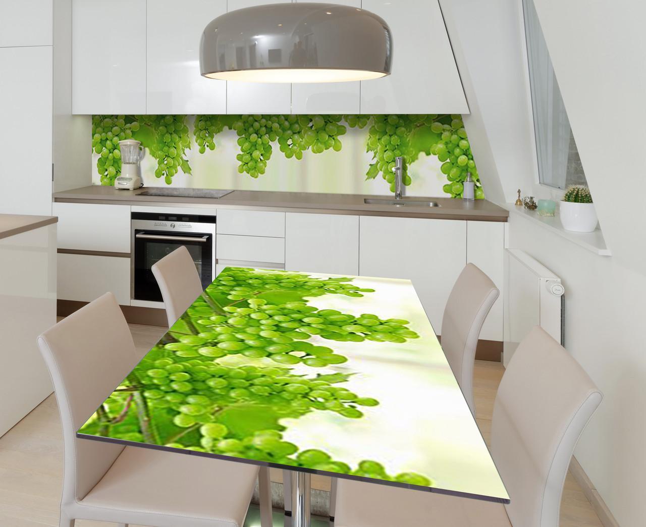 Наклейка 3Д виниловая на стол Zatarga «Изобилие Алиготе» 650х1200 мм для домов, квартир, столов, кофейн, кафе