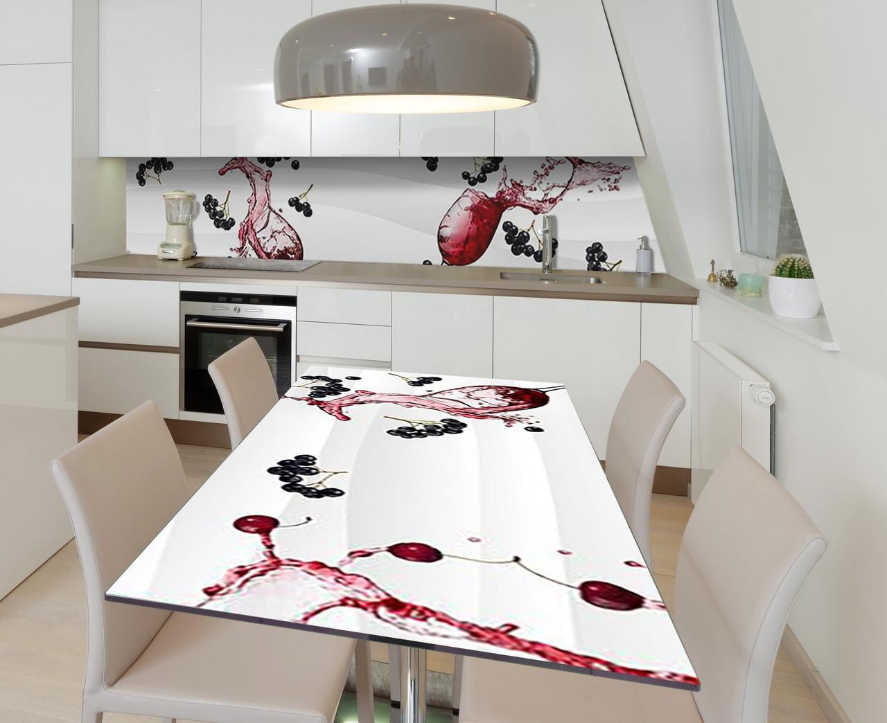 Наклейка 3Д виниловая на стол Zatarga «Черноплодная рябина» 600х1200 мм для домов, квартир, столов, кофейн,