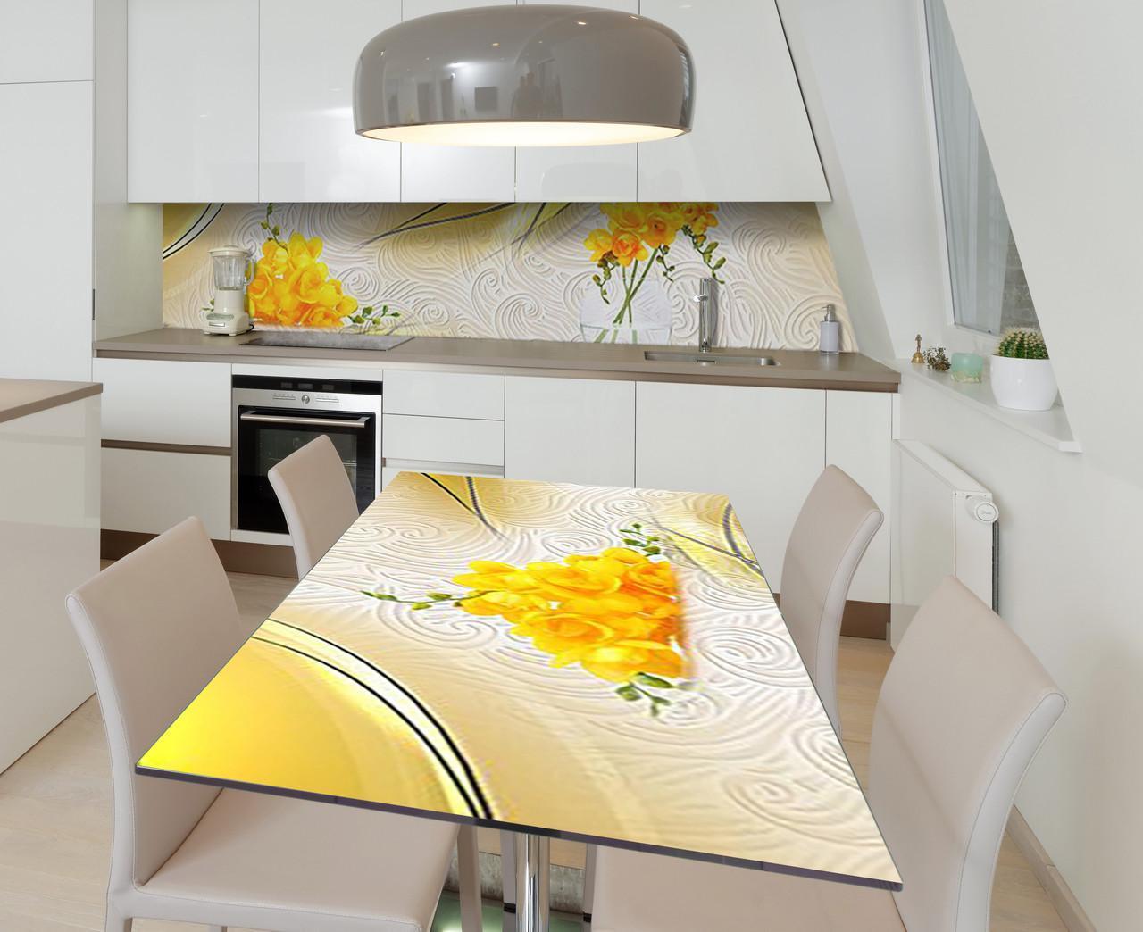 Наклейка 3Д виниловая на стол Zatarga «Утомлённая солнцем» 650х1200 мм для домов, квартир, столов, кофейн,