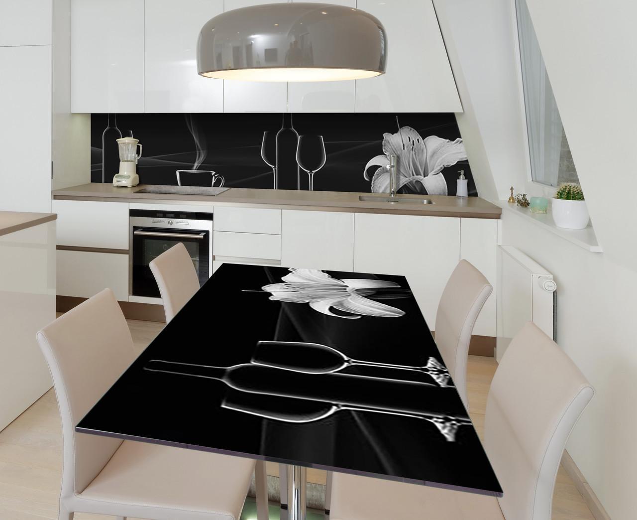 Наклейка 3Д виниловая на стол Zatarga «Очертания» 650х1200 мм для домов, квартир, столов, кофейн, кафе