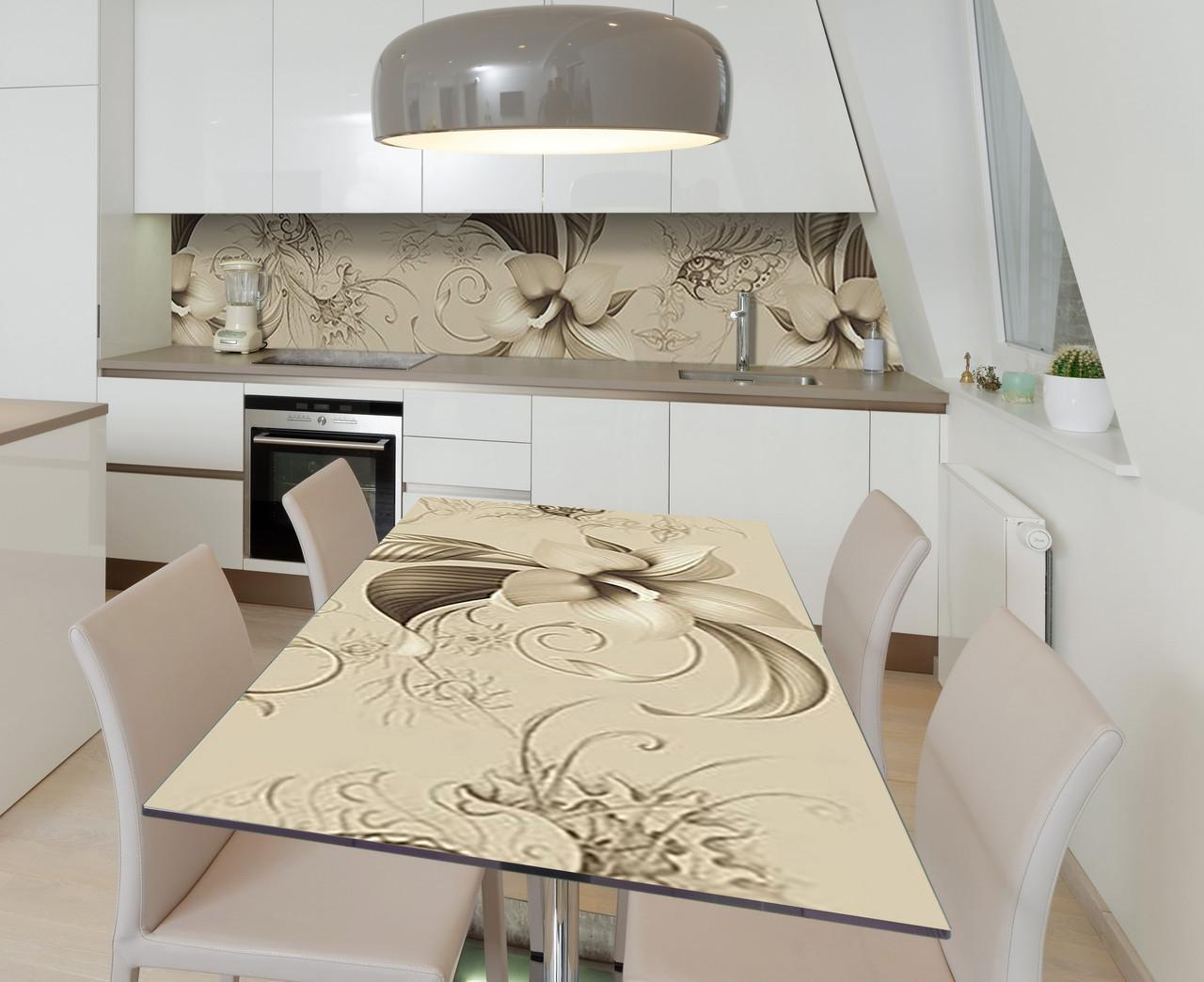 Наклейка 3Д виниловая на стол Zatarga «Всевидящее око» 650х1200 мм для домов, квартир, столов, кофейн, кафе