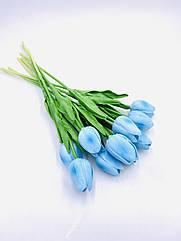 Искусственные тюльпаны Real touch голубой