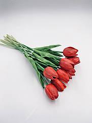 Искусственные тюльпаны Real touch бордо