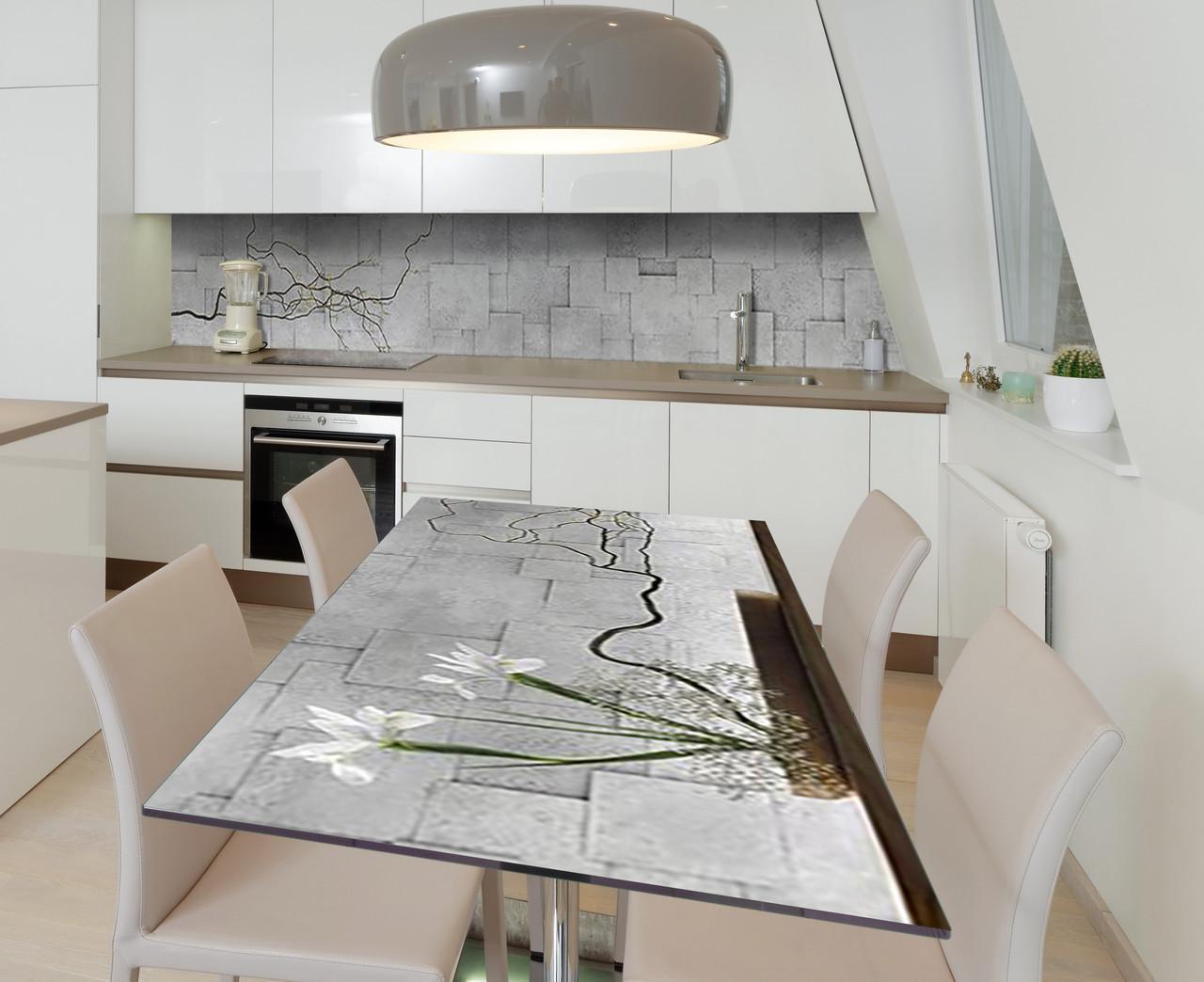 Наклейка 3Д виниловая на стол Zatarga «Решительная настойчивость» 650х1200 мм для домов, квартир, столов,
