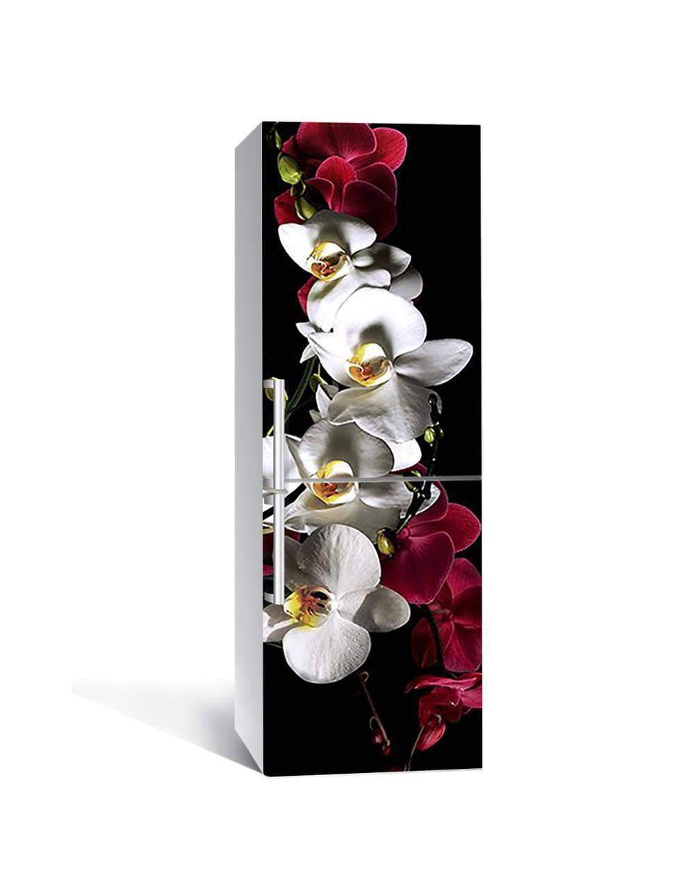 Наклейка на холодильник Zatarga «Сочные Орхидеи » 650х2000 мм виниловая 3Д наклейка декор на кухню