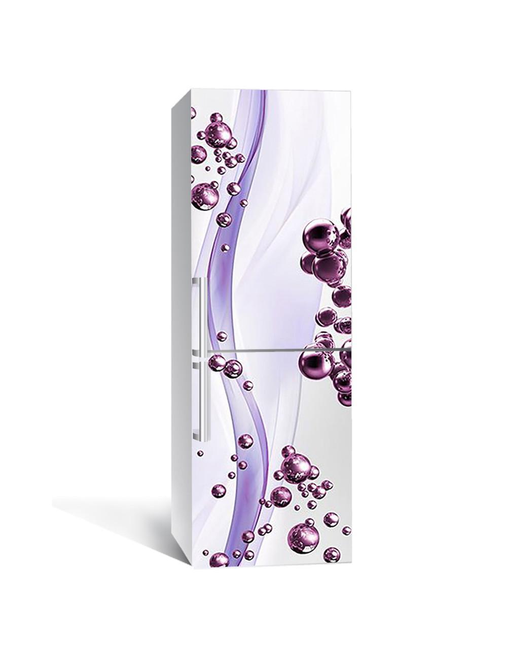 Наклейка на холодильник Zatarga «Фиолетовые Сферы » 650х2000 мм виниловая 3Д наклейка декор на кухню