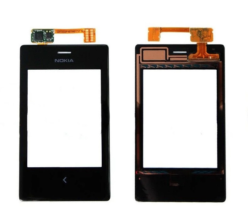 Сенсор (Тачскрін) для Nokia 503 Asha Dual Sim (Чорний) Оригінал Китай