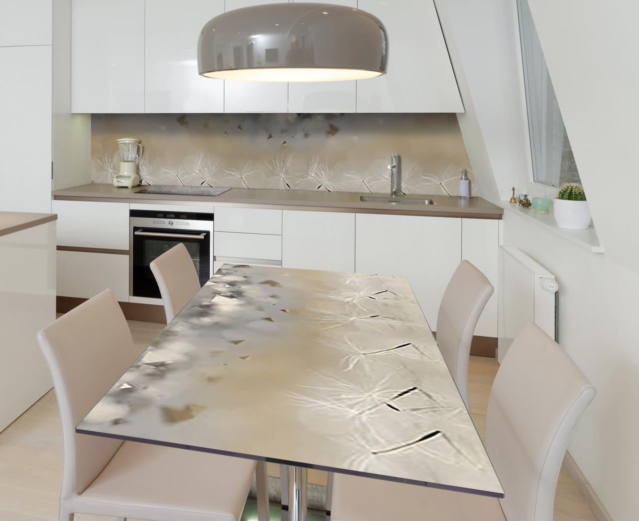 Наклейка 3Д виниловая на стол Zatarga «Танцующие парашюты» 600х1200 мм для домов, квартир, столов, кофейн,