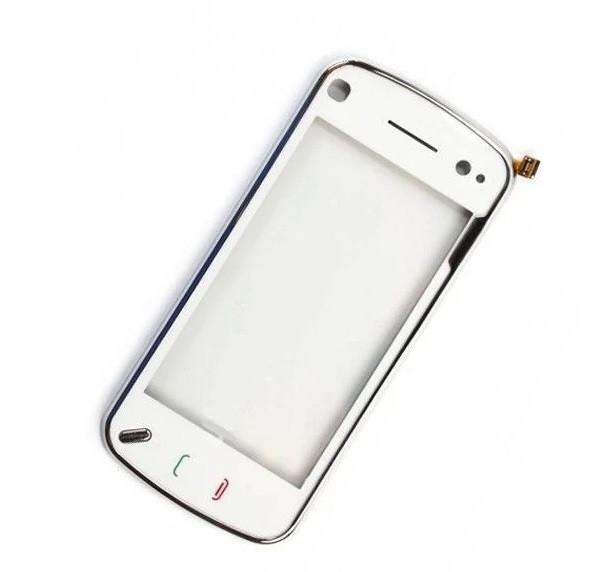 Сенсор (Тачскрин) для Nokia N97 С рамкой (Белый) Оригинал Китай