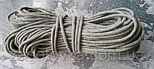Шнур плетений 5 мм з сердечником Сірий