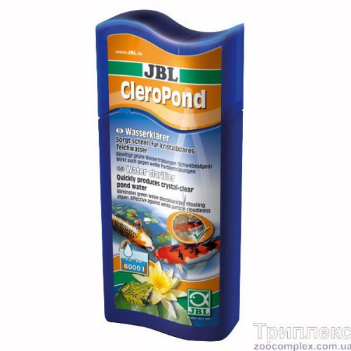 Препарат JBL СleroPond для боротьби з усіма видами помутеній в ставку, 500 мл