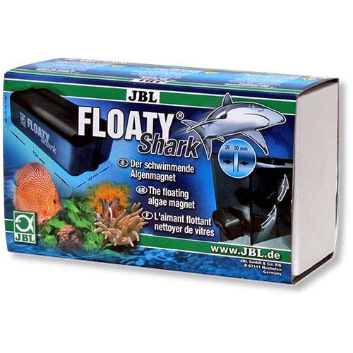 Плаваючий магнітний скребок JBL Floaty Shark для чищення товстих акваріумних стекол